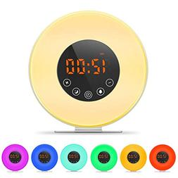Sunrise Alarm Clock, Digital Clock, Wake Up Light with 8 Nat