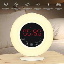 Sunrise Alarm Clock Radio for Kids, AM/FM, Wireless Bluetoot