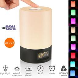 Sunrise Alarm Clock Radio Wake Up Light Natural Sound LED RG