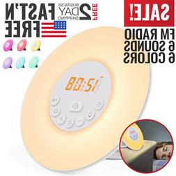 Sunrise Alarm Clock Radio Wake Up Light Digital FM Natural B
