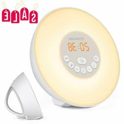 Sunrise Alarm Clock Wake Up Light With 6 Nature Sounds Fm Ra