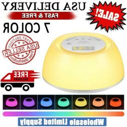 Sunrise Alarm Clock Wake Up Light Natural Sounds Bedroom Mus