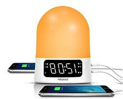 Sharp 43213-14176 Sunrise Simulator Alarm Clock with Blue To