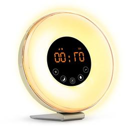 Sunrise Wake Up Light Digital Alarm Clock –  6 Natural Sou