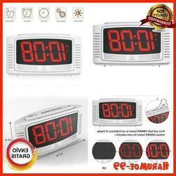 Super Extremely Extra Loud Led Alarm Clock For Heavy,Sleeper