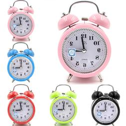 super loud double bell quartz alarm clock
