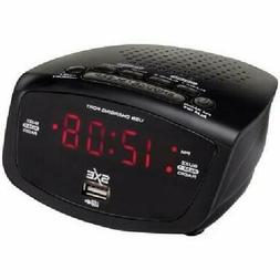 Westclox SXE86001X Digital FM Radio Alarm Clock with 1 A USB