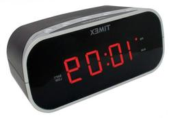 Timex T121B Alarm Clock with 0.7-Inch Red Display