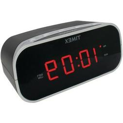 "TIMEX T121B Alarm Clock with .7"" Red Display"