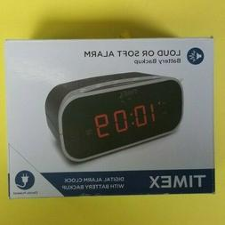 "Timex, T121BX, Alarm Clock With .7"" Red Display, New, Open B"