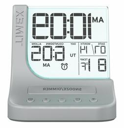 Timex T125S Color Changing Dual Alarm Clock with 1A USB Port