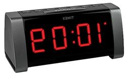 "TIMEX T235B AM/FM Dual Alarm Clock Radio with Jumbo 1.8"" LED"