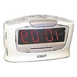 """Timex T256W Jumbo 1.4"""" LED Alarm Clock Radio"""