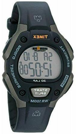 Timex Men's T5E901 Ironman Classic 30 Gray/Black Resin Strap