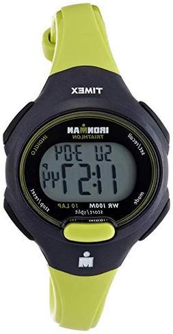 Timex Women's T5K527 Ironman Essential 10 Mid-Size Green/Bla