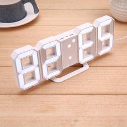 Table Clock Usb Charging Child Gift Modern Home Display Desk