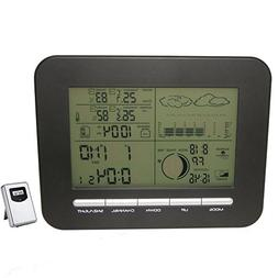 FunnyToday365 Digital Table Dual Alarm Clock Barometer Weath