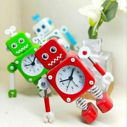 Table Watch Kid Room Decoration Walking Metal Robot Gift Toy