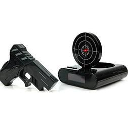 Pawaca Target Alarm Clock with Gun, 12hr Time Display - Infr