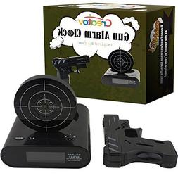 Target Alarm Clock with Gun - Infrared Target and Realistic