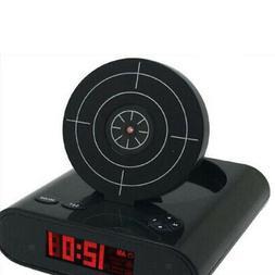 Target Alarm Clock With Gun Fun Clocks For Heavy Sleepers Ki