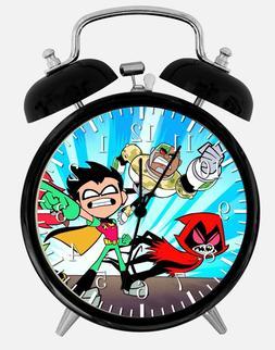 """Teen Titans Alarm Desk Clock 3.75"""" Home or Office Decor E458"""