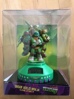Teenage Mutant Ninja Turtles Alarm Clock Radio W/AUX Jack Fo