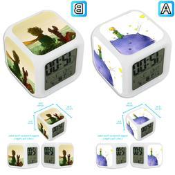 The Little Prince Cartoon Alarm Digital Clock LED Light Nigh