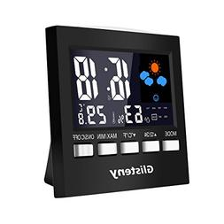 Thermometer Monitor, Glisteny LCD Screen Indoor Humidity Mon