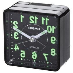 Casio TQ-140-1EF TQ140 black travel quartz alarm clock Illum