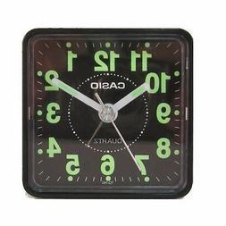 Casio TQ140-1D Travel Desk Quartz Alarm Clock Neobrite Resin