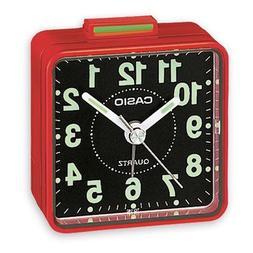 Casio TQ140 Travel Alarm Clock - Red Clock Radios