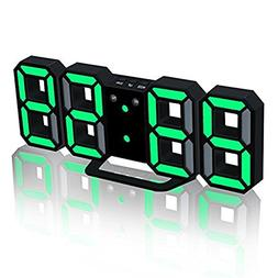 TRADE LED Electronic Wall Clock, Digital 3D LED Table Alarm
