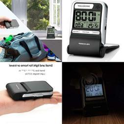 Travel Alarm Clock Digital Calendar Ascending Beep Small Bat