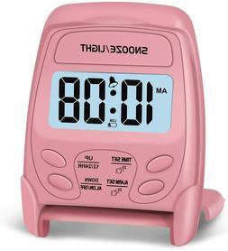 Travel Alarm Clock Digital Peakeep Foldable Battery Operated