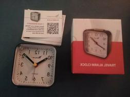 Travelwey Travel Alarm Clock - No Ticking, Big Digits, Snooz