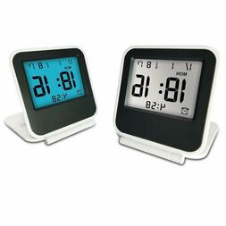 Travel Clock, eBoTrade Dirct Alarm Clock Battery Operated Po
