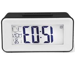 Travel Mini Clap Control Digital Alarm Clock LCD Snooze Back