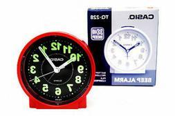 Casio Traveler Analog Alarm Clock Round Table Clock  TQ228-4