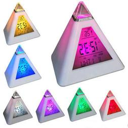 Triangle Alarm Clock Color Change Time Display Morning Call