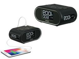 triple display alarm clock