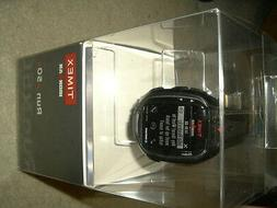 Timex Men's TW5K84500 Ironman Run x50+ Black/Red Resin Strap