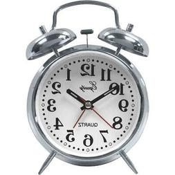 Equity 13014 Silver Twin Bell Battery Operated Alarm Clock