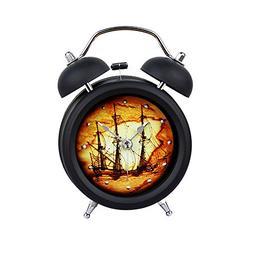 Baidercor Twin Bell Alarm Clock with Nightlight Vintage Sail