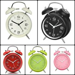 Twin Bell Alarm Clock Analog Stereoscopic Numbers Backlight