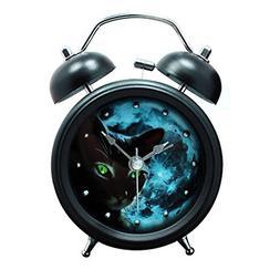Baidercor Twin Bell Alarm Clock with Nightlight Mysterious C