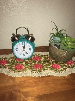 Sharp Twinbell Quartz Analog Alarm Clock w/Touch Activated B