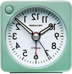 Peakeep Ultra Small Battery Travel Alarm Clock Snooze Light