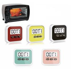 Up Kitchen Clock Portable Count-Down Up LCD Display Loud Ala