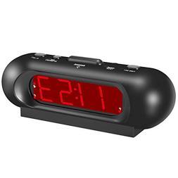 KWANWA Travel Loud LED Digital Alarm Clock High Volume up to